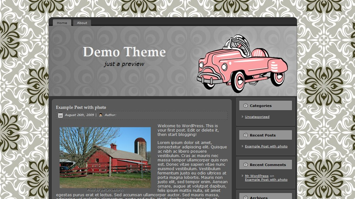 Pre made retro wordpress theme