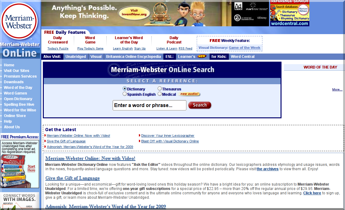 Dictionary and thesaurus   merriam webster online 1260840539811