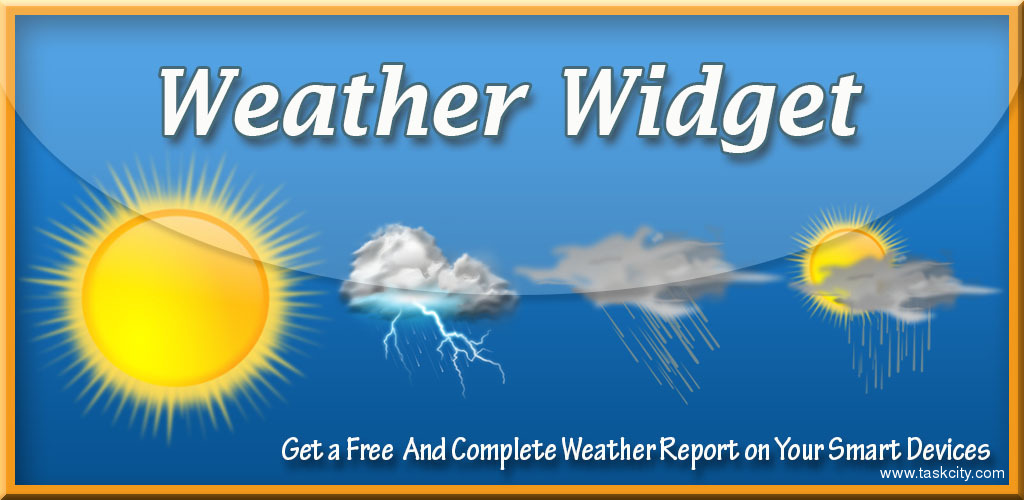 Weather forecast widget 1
